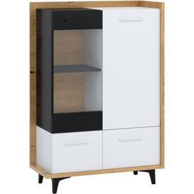 image-Tadcaster Display Cabinet Ebern Designs Colour: Artisan Oak