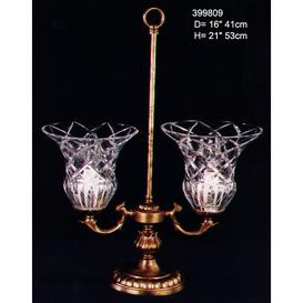image-Delay 2-Light Shaded Chandelier Astoria Grand Finish: Antique Silver