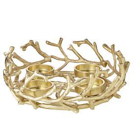 image-Porus Advent 30cm Metal Wreath Edzard Colour: Gold