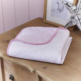 image-Stars and Stripes Cot Blanket Clair De Lune Colour: Pink