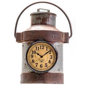 image-Upcycled Iron Milk Churn Wall/Table Clock