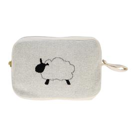 image-Retreat - Kids Knitted Travel Pouch With Blanket - Sheep