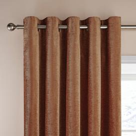 image-Dorma Lymington Roasted Pecan Eyelet Curtains Brown