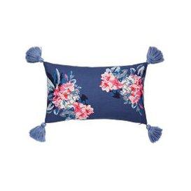 image-Joules Lost Garden Floral Cushion 30cm x 50cm, Comet