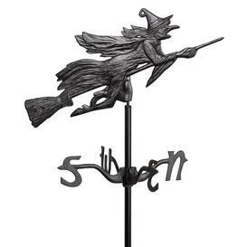 image-Windblown Wicked Witch Metal Weathervane Design Toscano