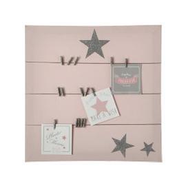 image-Pink Canvas Memo Board 45x45