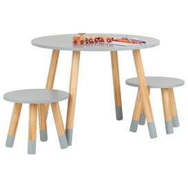 image-Hartleys Grey Kids Table and Chairs Set