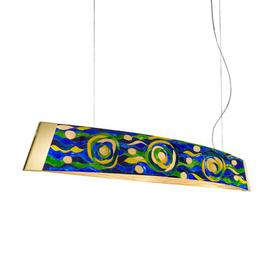 image-Barca 2-Light LED Kitchen Island Pendant Kolarz Shade Colour: Gold/Blue/Green