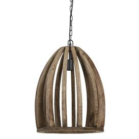 image-Dark wooden pendant light (two sizes available) - Large