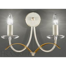 image-Vancouver 2-Light Candle Wall Light Astoria Grand Finish: Cream / Gold