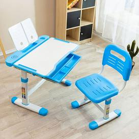 image-Aceves Children's 2 Piece Table and Chair Set Isabelle & Max Colour: Blue