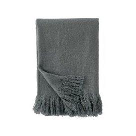 image-DKNY Faux Mohair Throw, Grey