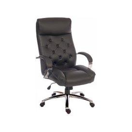 image-Bonnet Executive Armchair, Black, Free Standard Delivery