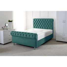image-Kiersten Upholstered Sleigh Bed Willa Arlo Interiors Size: Double (4'6), Colour: Green