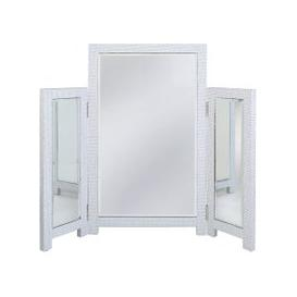 image-Ohio White Rectangular Vanity Mirror