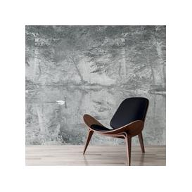 image-Swan Wall Mural (colour: Mist Grey, size: Small (150w x 320h))