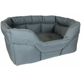 image-Decimus Bolster Cushion in Grey Archie & Oscar Size: Medium (57cm W x 67cm D)
