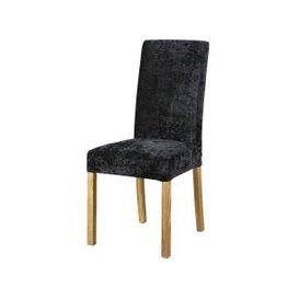 image-Black Velvet Chair Cover