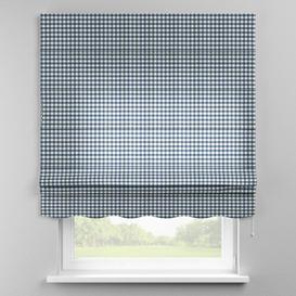 image-Quadro Blackout Roman Blind Dekoria Size: 130cm W x 170cm L, Finish: Navy Blue/Ecru