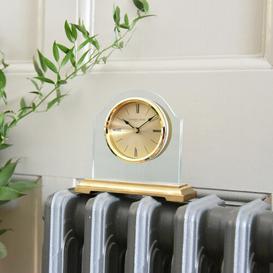 image-Gold Break Arch Pendulum Mantel Clock London Clock Company