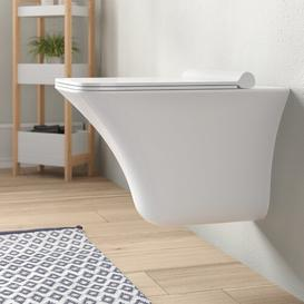 image-Grace Wall Hung Toilet with Soft Close Seat Hudson Reed