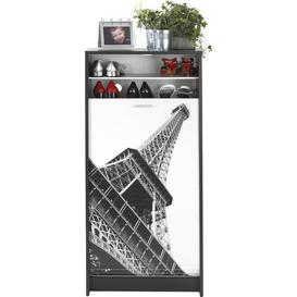 image-21 Pair Shoe Storage Cabinet Rebrilliant Finish: Black