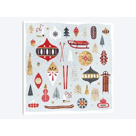 image-'Christmas Chalet IV' by Victoria Borges Graphic Art Print on Wrapped Canvas
