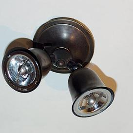 image-Marceline 2 Light Ceiling Spotlight Williston Forge Finish: Bronze, Size: 7cm H x 18cm W x 8.5cm D
