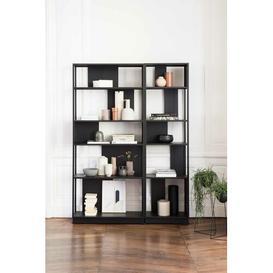 image-Calista Bookcase Ebern Designs Size: 200 H x 90 W x 32 D cm