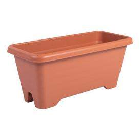 image-Air Plastic Balcony Planter IRIS Colour: Brown, Size: 26cm H x 45cm W x 27.2cm D