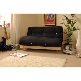 image-Pfeffer 2 Seater Futon Sofa Mercury Row Upholstery Colour: Black, Size: Small Double (4')