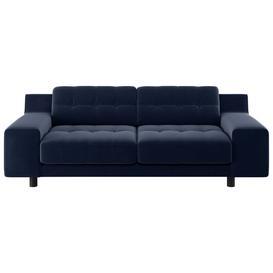 image-Habitat Hendricks 3 Seater Velvet Sofa - Navy