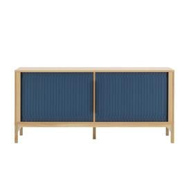 image-Jalousi Dresser - / L 161 cm - Wood & plastic curtains by Normann Copenhagen Blue/Natural wood