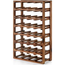 image-Clover Acacia Wood Extra Large 28 Bottle Wine Rack, Natural