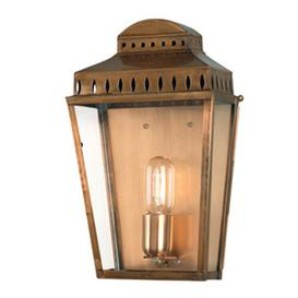 image-Ville 1 Light Outdoor Wall lantern Sol 72 Outdoor Finish: Solid Brass