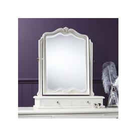 image-Chic Dressing Table Mirror In Vanilla White