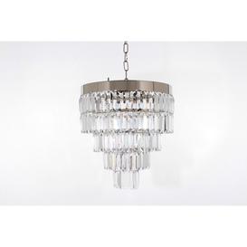 image-Impex STLED508123/40/05/CH Crystal Art Four Light Flush Round Ceiling Chandelier Light In Chrome