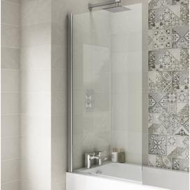 image-Straight Hinged Bath Screen