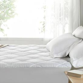 image-Ankarl Quilted Waterproof Fitted Mattress Protector Symple Stuff Size: Double (4'6)