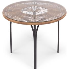 image-Lyra Garden 4 seater Round Dining Table, Charcoal Grey