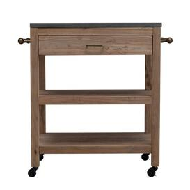 image-Huneycutt Kitchen Trolley with Granite Top Blue Elephant