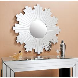 image-Sunburst White Accent Mirror Fairmont Park