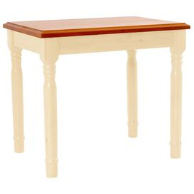 image-Loring Dressing Table Stool Marlow Home Co. Finish: Cream/Pine