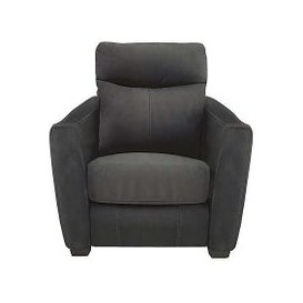 image-Compact Collection Midi Fabric Power Recliner Armchair - Grey