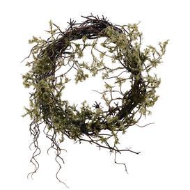 image-Faux Moss Wreath