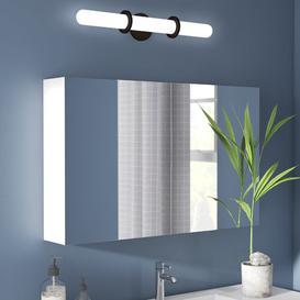 image-SPS 100cm x 62cm Mirror Cabinet Belfry Bathroom Finish: White High Gloss