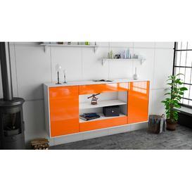 image-Syston Sideboard Brayden Studio Colour (Body/Front): White Mat/Orange