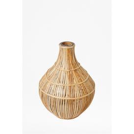 image-Cane Bulb Vase - natural