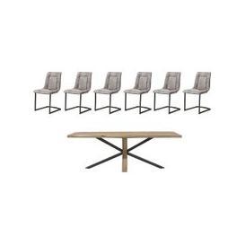 image-Habufa - Detroit 200cm Starburst Leg Table and 6 Panay Chairs