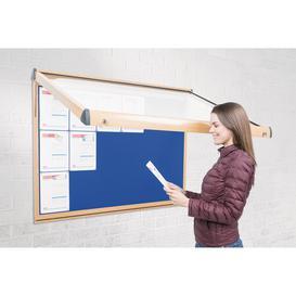 image-Exterior Wood Showcase Noticeboard, White